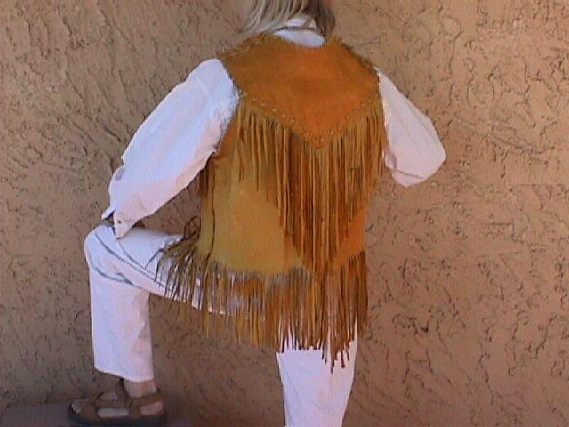 model in Elk Vest